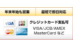 クレジット支払い可能
